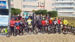 برگزاری تور دوچرخه سواری بمناسبت روز ایمنی در مقابل زلزله