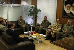 دیدار مسئولان مهندسی ساختمان و تاسیسات ارتش با رئیس سازمان