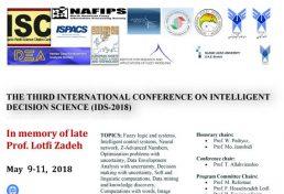 سومین کنفرانس بینالمللی علوم تصمیم گیری هوشمند