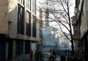 ریزش ساختمان در صورت عدم مهار کامل آتش
