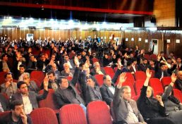 تصویب برنامه و بودجه و پیشنهادی سال نود و هفت و موضوع کسر ۵ درصد حق الزحمه ناظران با رای اکثریت اعضای حاضر در مجمع