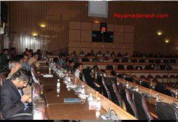 برگزاری گردهمایی آثار مخرب زلزله در تالار فرمانداری لارستان