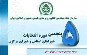 انتخابات نظام مهندسی کشاورزی و منابع طبیعی استان گلستان به حد نصاب نرسید