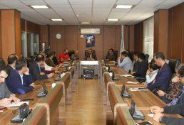 جلسه مدیران واحدها با رییس و هیات رییسه سازمان نظام مهندسی ساختمان استان