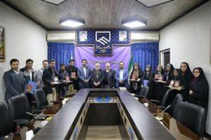 تجلیل از نفرات منتخب پنجمین جشنواره رسانه و مهندسی در قم