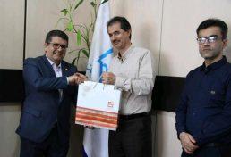 دیدار جلال الدین سلیمی مدیر شعب بانک مسکن استان کردستان با رییس و هیات مدیره سازمان