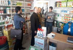 اجرای طرح نظارت دوره ای از فروشگاههای سموم دفع آفات نباتی قزوین