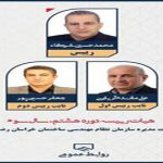 برگزاری انتخابات اعضای هیأت رئيسه سازمان نظام مهندسی ساختمان خراسان رضوی