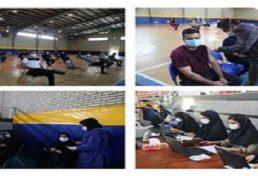 واکسيناسيون اعضاي سازمان نظام مهندسي ساختمان استان گيلان روز ۲ شنبه
